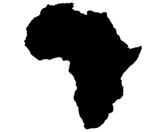 Africa vector - Digital Download File - Dxf Dwg Svg Pdf - suitable for Silhouette