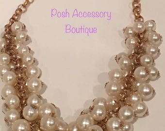 Posh Pearl Beaded Necklace