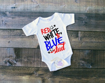 America/ Red white blue/ Support America/ Bodysuit/ Independence/ 4th of July/ Holiday/ Celebrate/ Gift/ Red white blue stud bodysuit