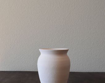 Handmade Minimal Medium White Vase Pot Planter
