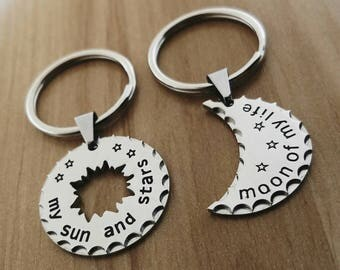 Game of Thrones Keychain, Stainless Steel, My Sun And My Stars, Moon Of My Life Keychain, Daenerys Targaryen Keychain, Anniversary Gift