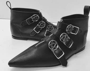 Original Pikes - Dark Crow 3 Buckle Boots