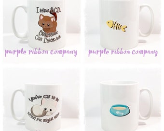 10oz Designer Mug - Cat Mug | Quote Mug | Funny Mug | Kitty Mug