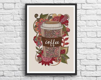 Affiche Art-Poster 50 x 70 cm - Morning Coffee
