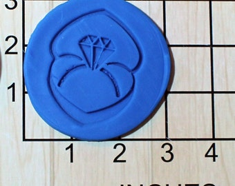 Engagement Ring Fondant Cookie Cutter AND Stamp #1615
