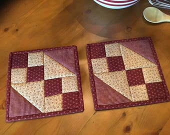 Kitchen Potholders/ Quilted Potholders/Country Decor/Handmade/Item #2030