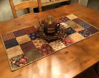 Quilted Table Runner / Country Decor / Handmade / Table Runner / Item #2066