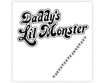 DC Comics, Daddy's Lil Monster, Harley Quinn, Villan, Illustration, TShirt Design, Cut File, svg, pdf, eps, png, dxf