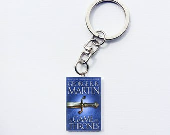Game of Thrones mini book keychain