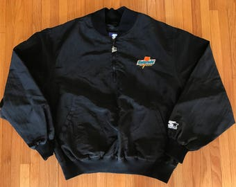 Vintage 90s Gatorade Starter Black 1/4 Zip Pullover Windbreaker. Size XL