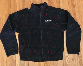 Vintage 90s GT Bicycles BMX Full Zip Fleece. Size XXL