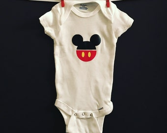 Minnie mouse disney baby girl custom baby gifts unique mickey mouse disneyland mickey logo disney baby gifts personalized baby onesie negle Choice Image
