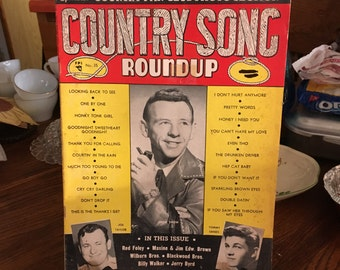 SALE Vintage Country Music Periodical - Country Song Roundup 1954