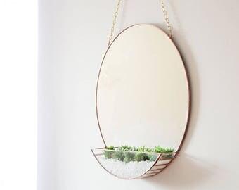 New! Mirror & Terrarium - Modern home decoration - Mirror - Geometric Terrarium - Hanging Terrarium - House Decor - Minimal Home Decor