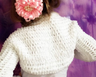 Toddler crochet shrug/ Baby crochet bolero/ Crochet cropped top Props/ Crochet toddler sweater/ Girl crochet  bolero Soft crochet baby shrug