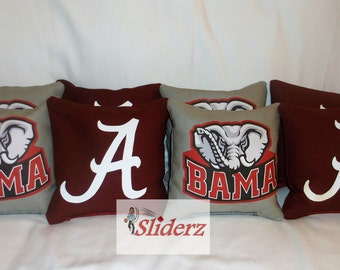 Alabama Cornhole Bags Hand Crafted & Made Ships in 1-2 Bus Days Bama Roll Tide Receive Promo Code for 10% off when you Favorite this Shop