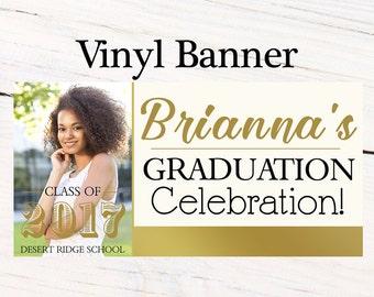 Graduation Class of 2017 Photo Banner ~ Congrats Grad Personalize Party Banners -Classic Graduation Large Banner