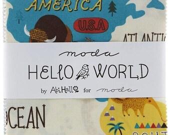 Hello World Charm Pack by Abi Hall for Moda Fabrics