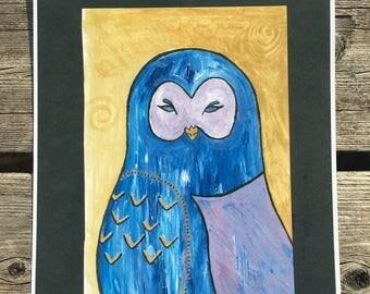 Mystical Owl Friend print