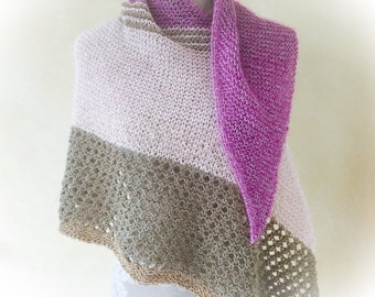 "Knitted scarf ""Summer evening"""