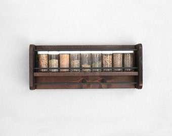 Wall Spice Rack | Wood Spice Rack | Hanging Spice Rack | Wall Mount Spice Rack