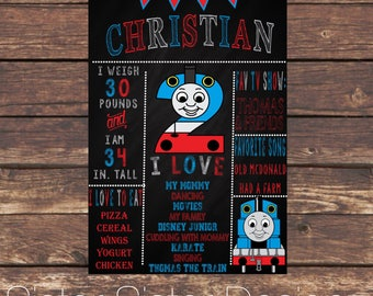 Thomas The Train Printable Chalkboard