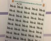 45 Work stickers for Erin Condren Life Planner Filofax Gillio Inkwell Traveling Notebooks #SWM236