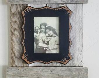Funky Frame with Barnwood shutter