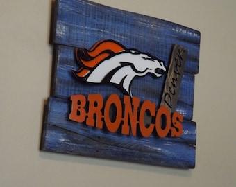 Broncos Wall Art bronco metal art | etsy