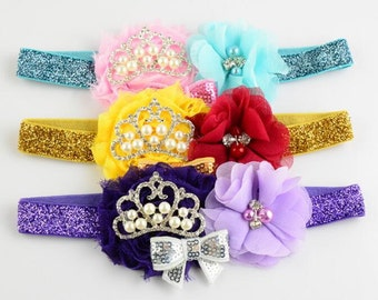 Fashion Charm Chiffon Flower Headband , Bowknot Headband , Crown Headband-- YTA72