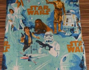 Rare Original Mid Blue Star Wars cotton Fabric
