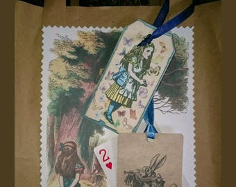 Alice in wonderland party gift bags