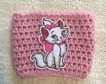 Marie Pink Crochet Cup Cozy / Aristocats