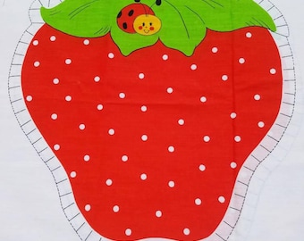 Vintage 1980 Strawberry Shortcake Strawberry Sew and Stuff Pillow Pattern