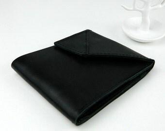 Men's Leather Wallet, black, genuine leather