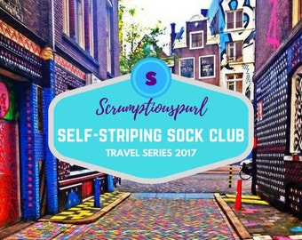 3 MONTH Subscription July-September - Self-Striping Sock Yarn, Travel Series 2017