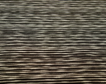 Black + White Striped Knit Fabric - 3 yards