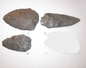 Choice Large Archaic Period (8000 BC - 1000 BC) Stone Biface from Various Locations - Choose By Number