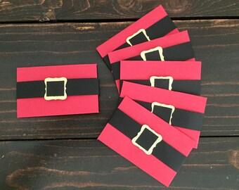 Santa Suit Gift Card Holders, Christmas Gift Card Holders, Set of Six Gift Card Holders, Money Envelope
