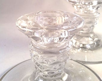 Dual Use Glass Taper Candle Holders