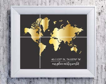 Place in the world custom wall art