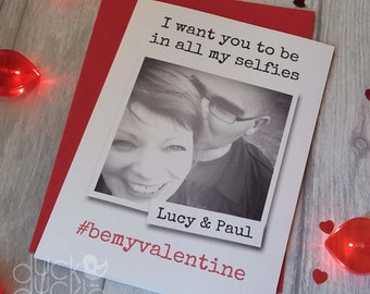Selfie Valentine's Card - personalised with photo and names