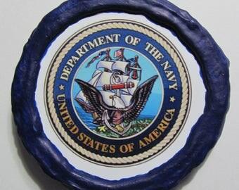 NEW!!! - U.S. Navy Emblem Magnet - Multi-Colored - Refrigerator Magnet