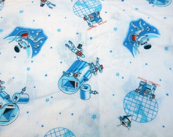 Space theme fabric etsy for Space themed fabric