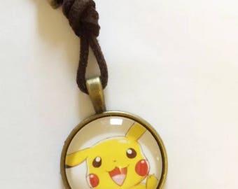 Pokemon pikachu retro gamer game catch cute pendant necklace