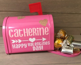 Mini Personalized Valentines Mailboxes