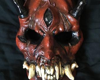 Hard resin Oni mask