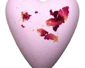 Rose fizzy heart bath bombs set of 2