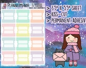 Pastel Tab Stickers, Pastel Planner Stickers, Small Tab Stickers - 424