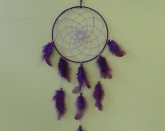 Purple handmade dream catcher